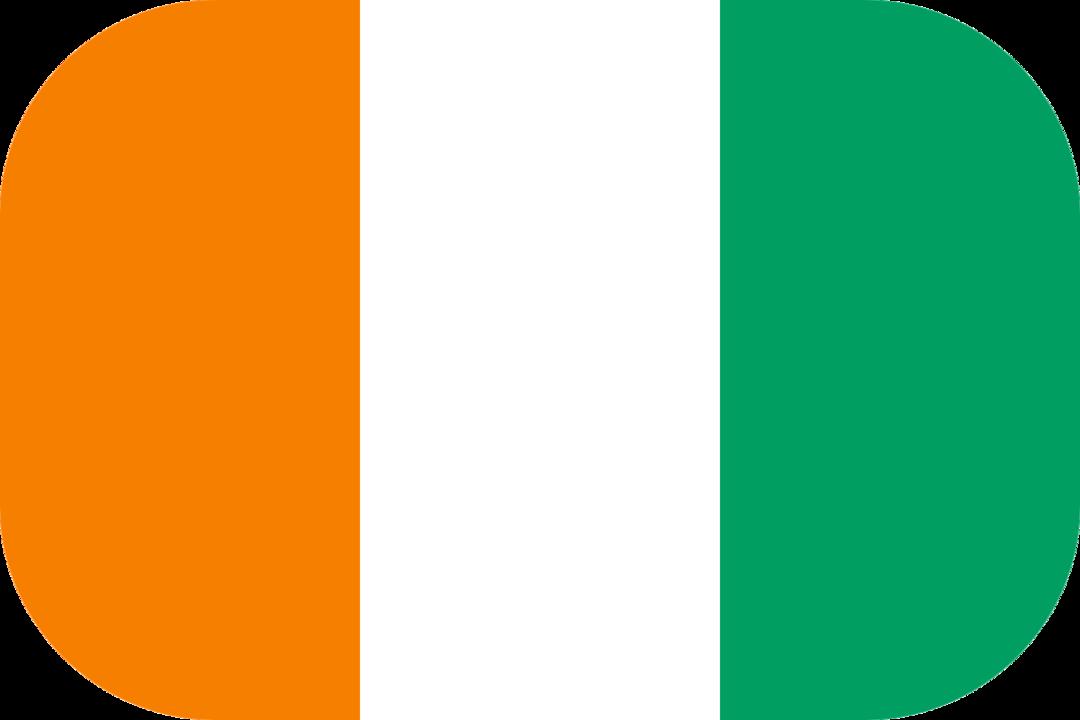 Ivory Coast flag with rounded corners