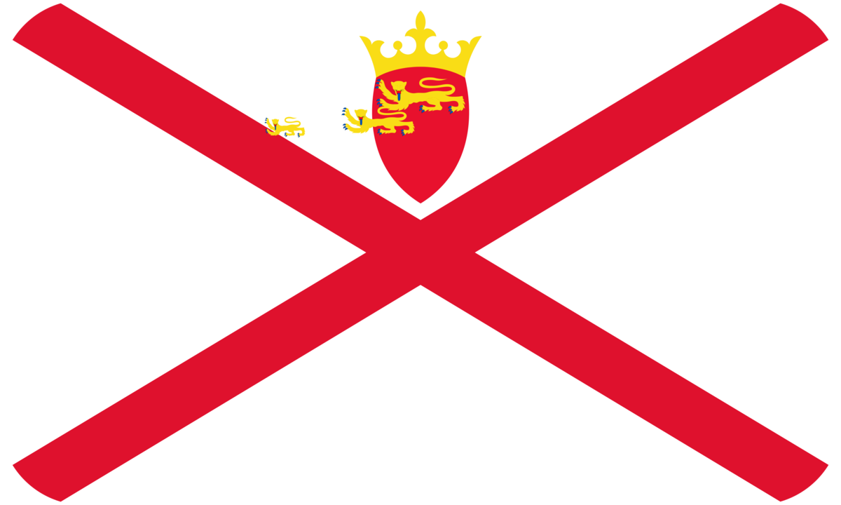 Jersey flag with rounded corners