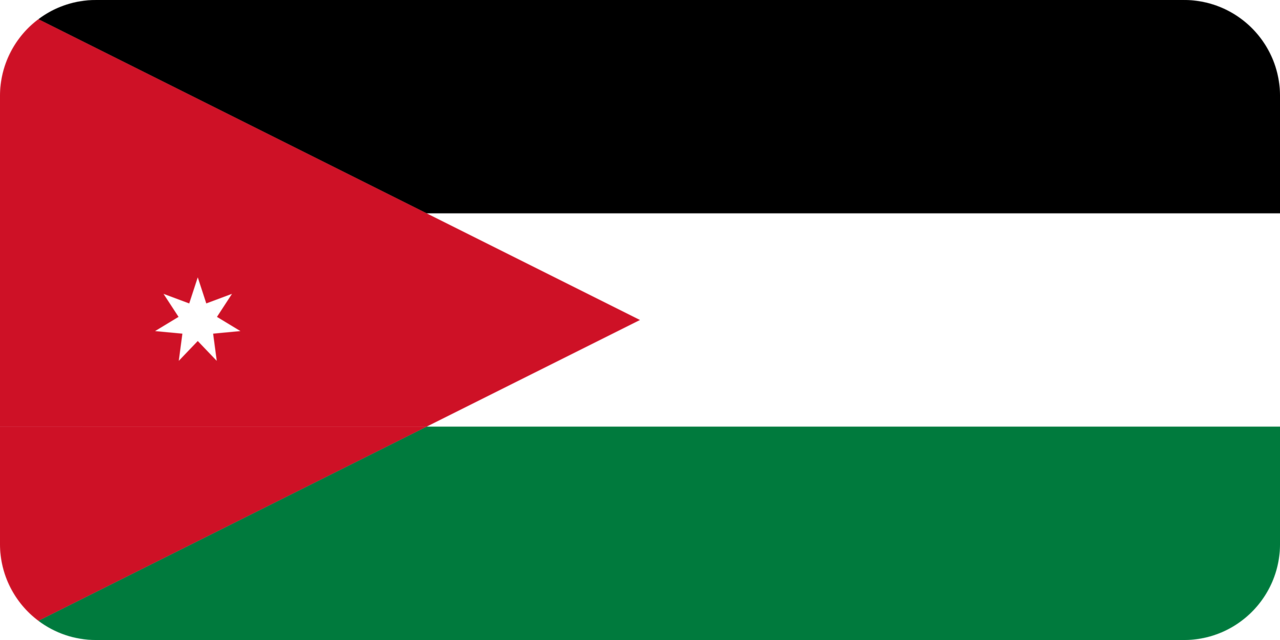 Jordan flag with rounded corners