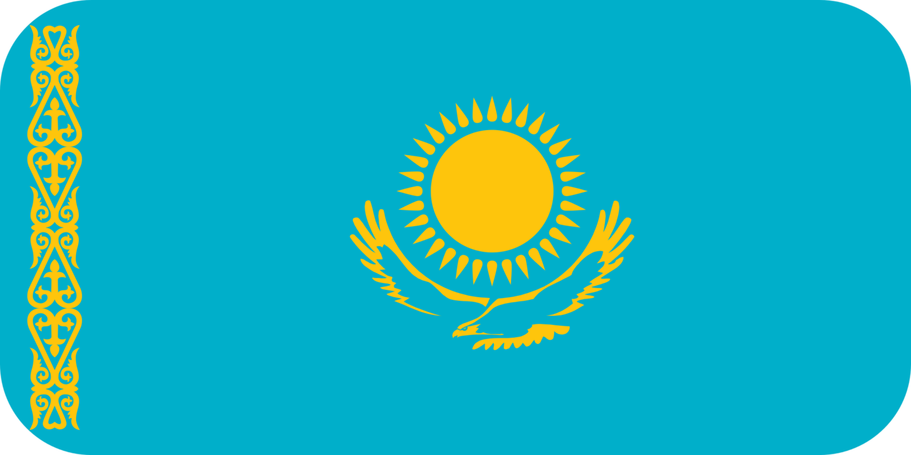Kazakhstan flag with rounded corners