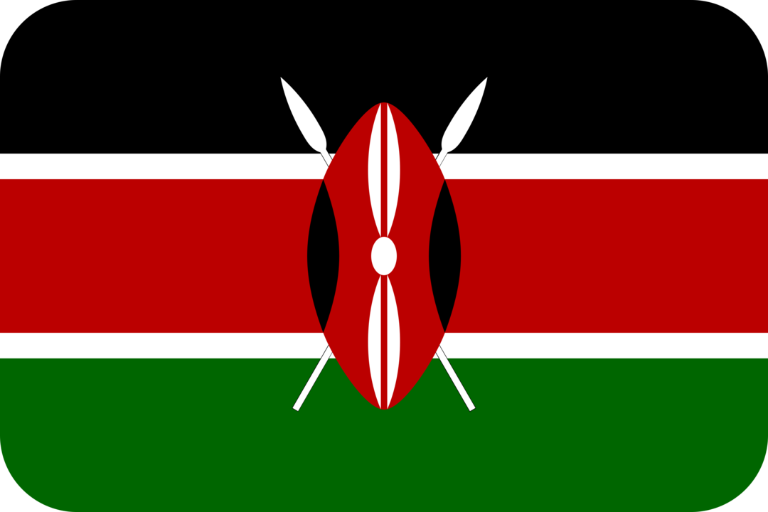 Kenya flag with rounded corners