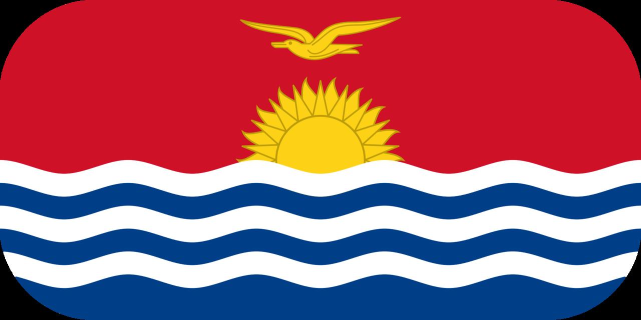 Kiribati flag with rounded corners