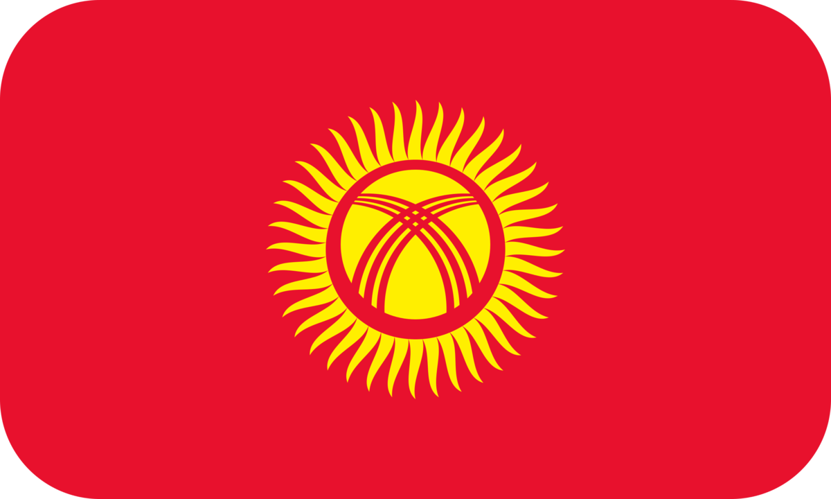 Kyrgyzstan flag with rounded corners