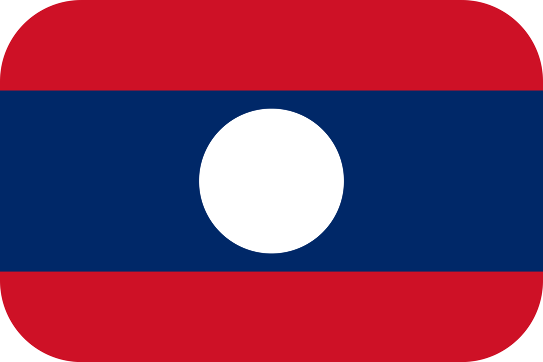Laos flag with rounded corners