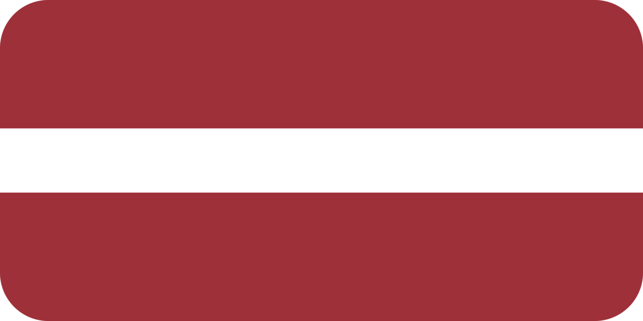 Latvia flag with rounded corners
