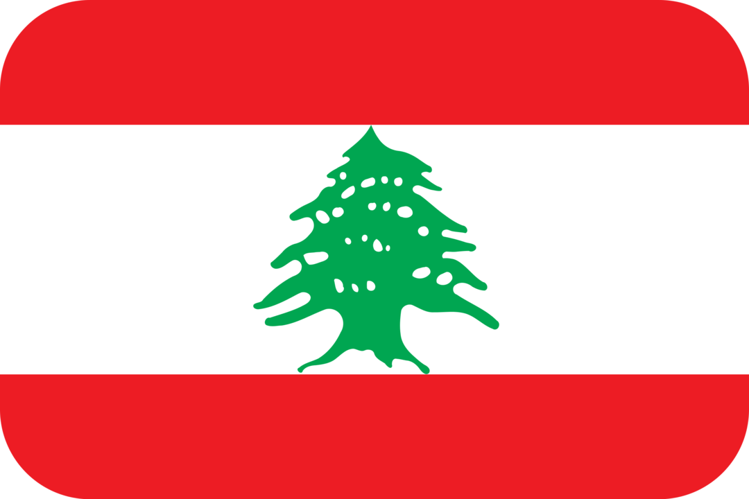 Lebanon flag with rounded corners