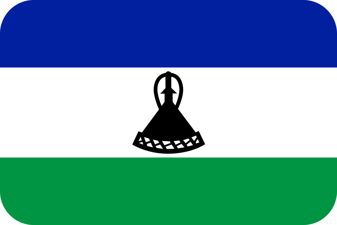 Lesotho flag with rounded corners