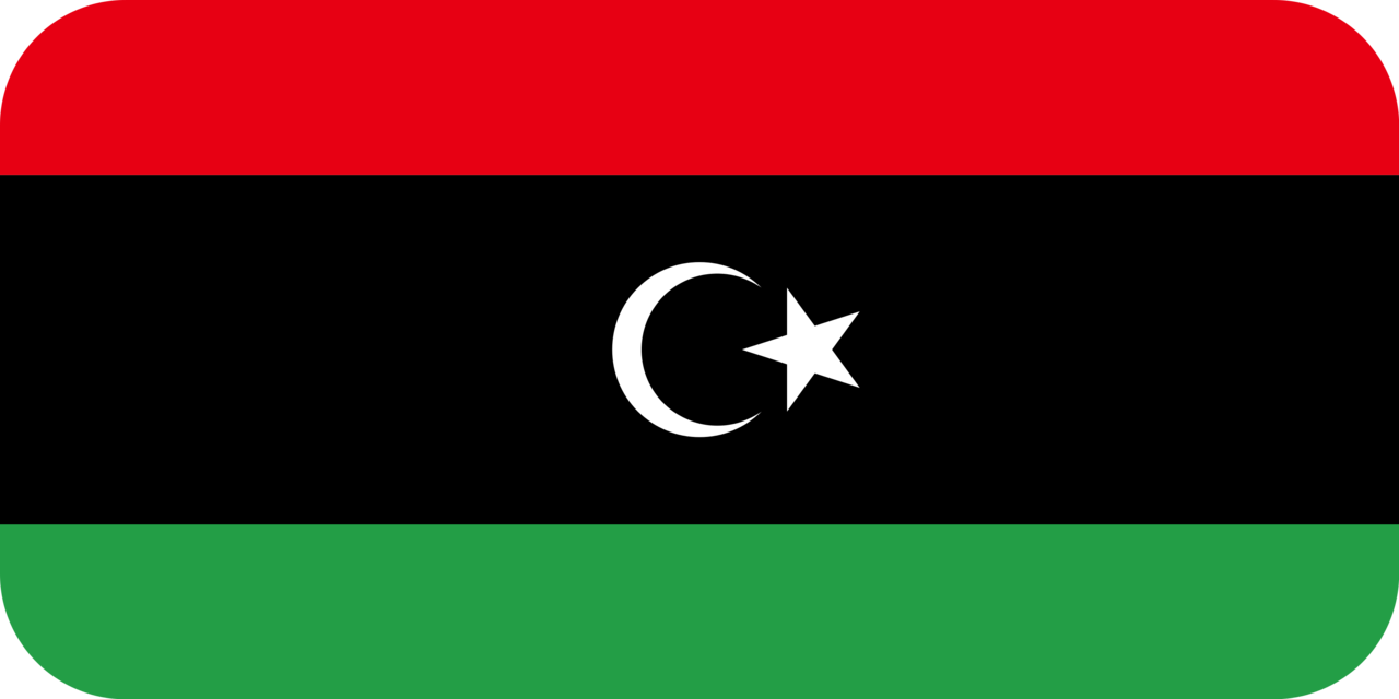 Libya flag with rounded corners