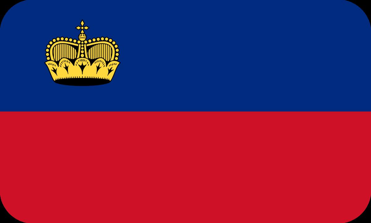 Liechtenstein flag with rounded corners