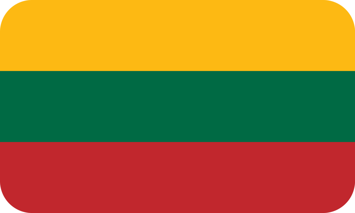 Lithuania flag with rounded corners