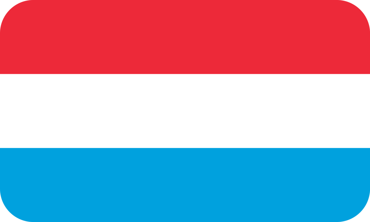 Luxembourg flag with rounded corners