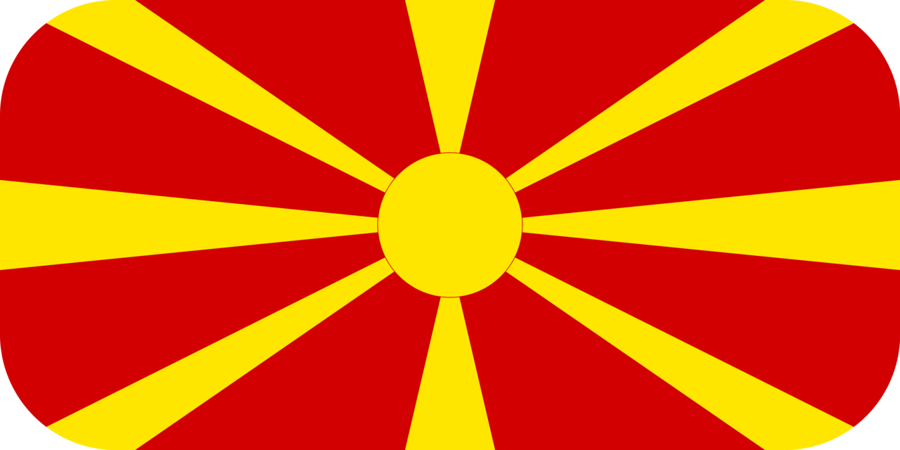 Macedonia flag with rounded corners