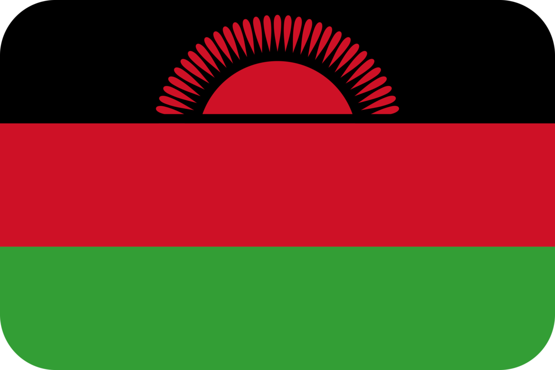 Malawi flag with rounded corners