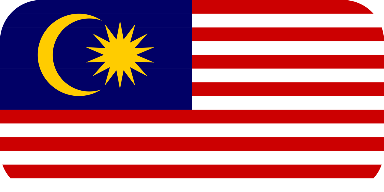 Malaysia flag with rounded corners