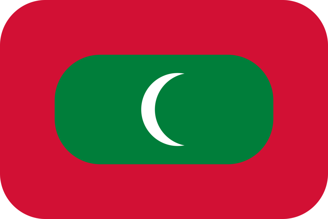 Maldives flag with rounded corners