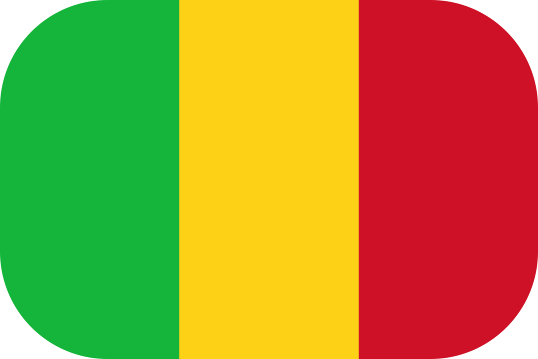 Mali flag with rounded corners