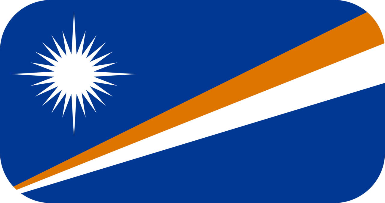 Marshall Islands flag with rounded corners
