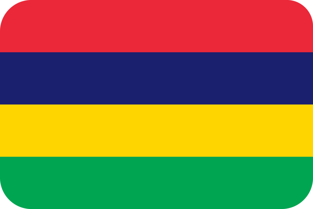 Mauritius flag with rounded corners