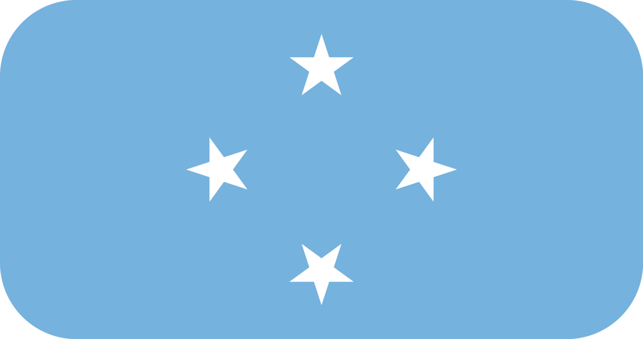 Micronesia flag with rounded corners