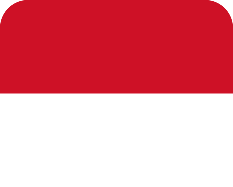 Monaco flag with rounded corners