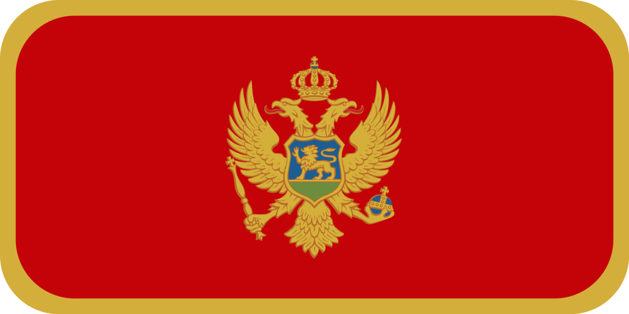 Montenegro flag with rounded corners