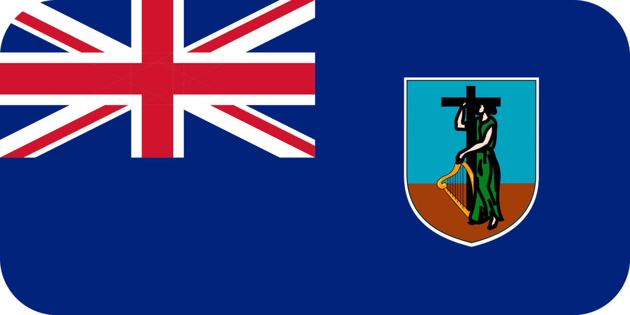 Montserrat flag with rounded corners
