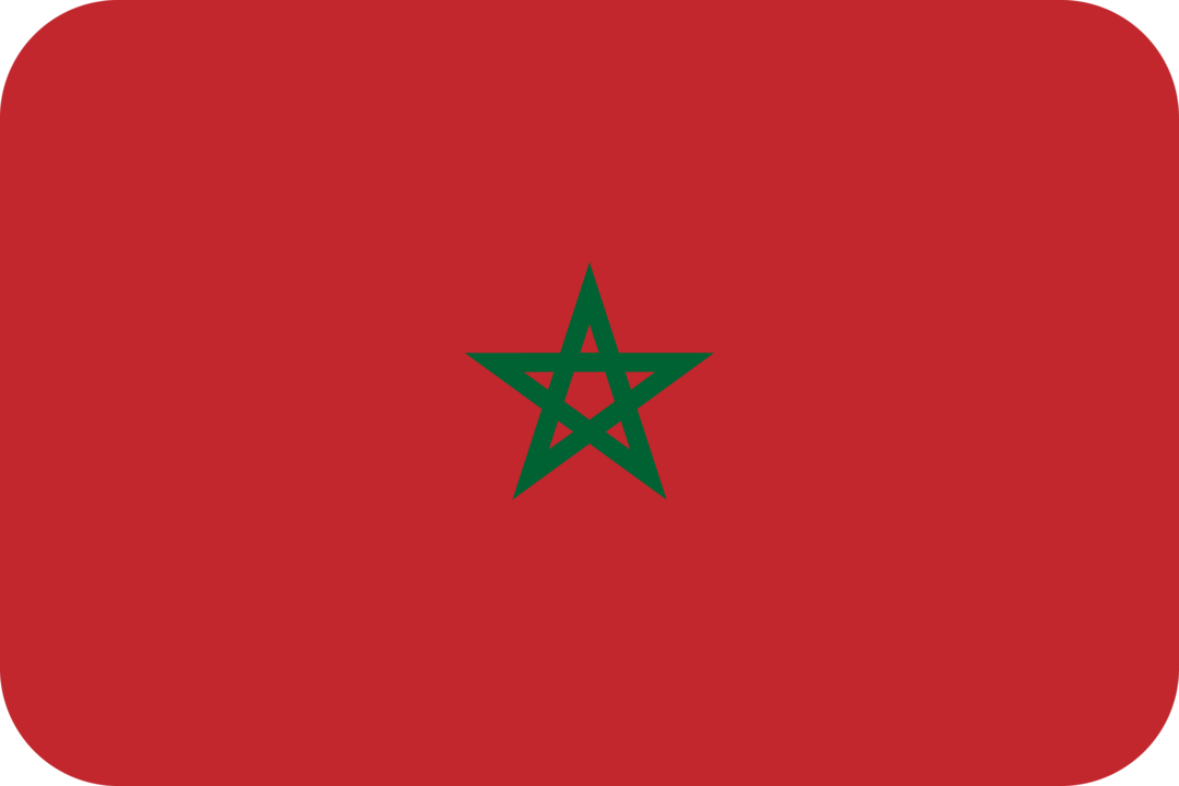 Morocco flag with rounded corners