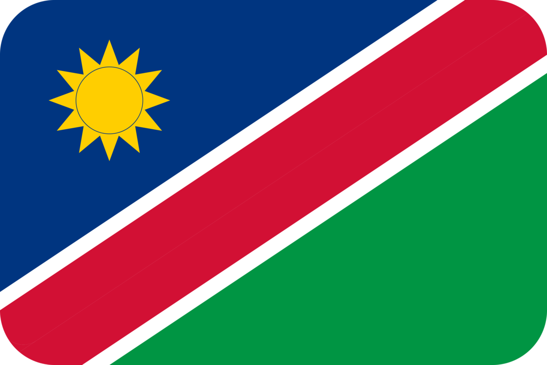 Namibia flag with rounded corners