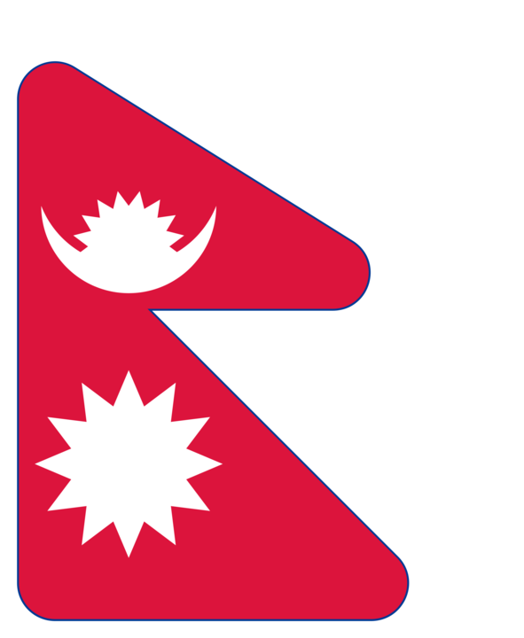 Nepal flag with rounded corners