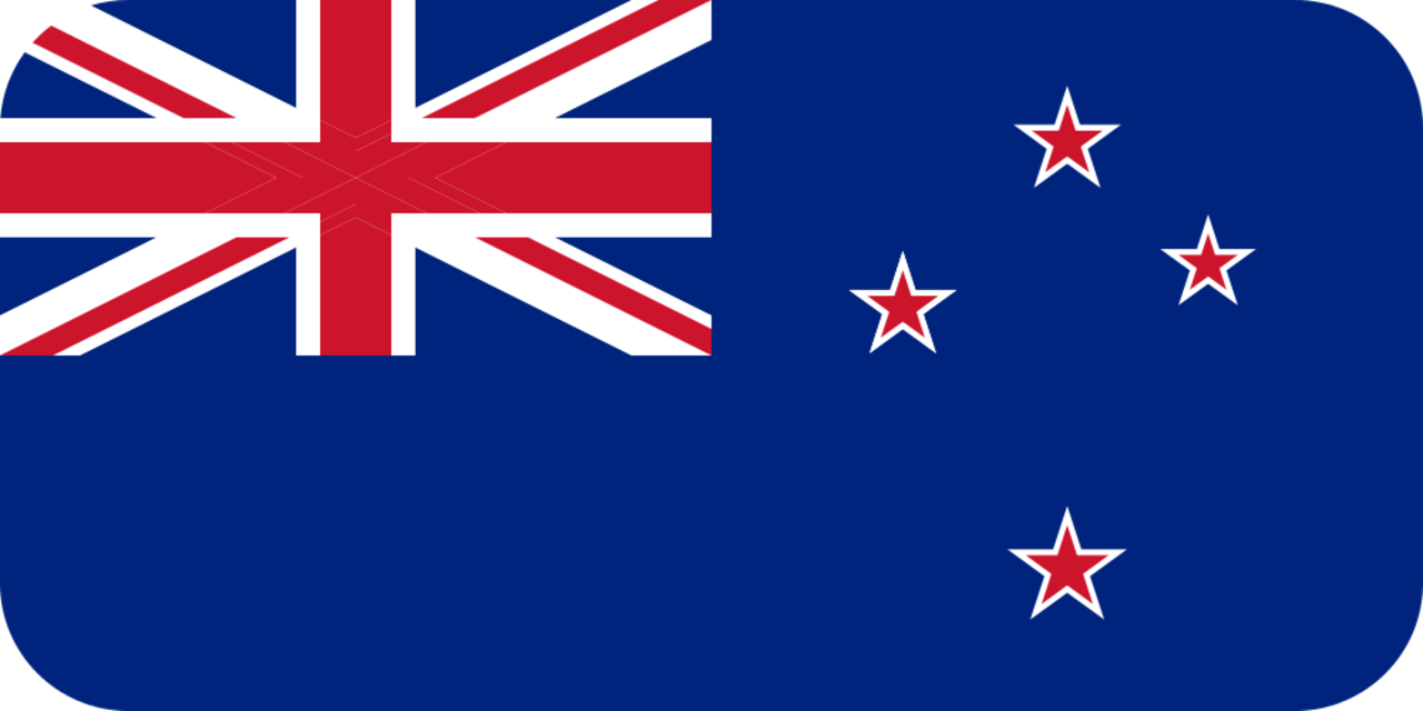 New Zealand flag with rounded corners