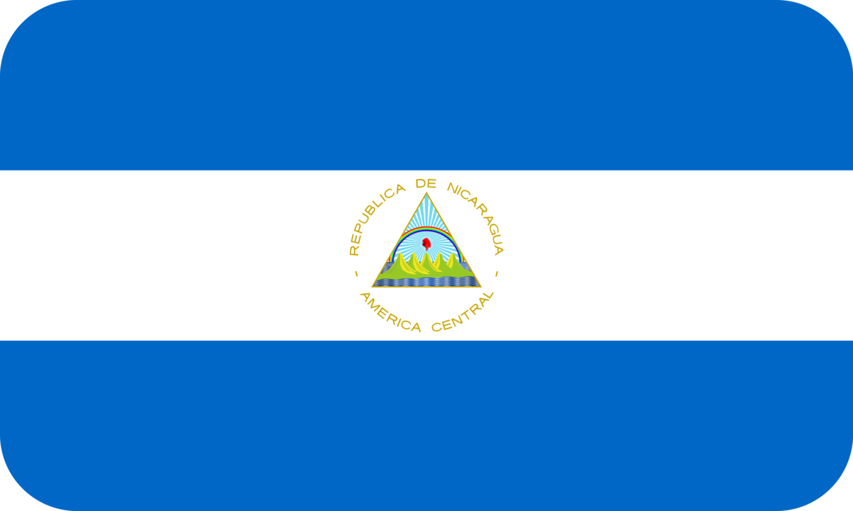 Nicaragua flag with rounded corners