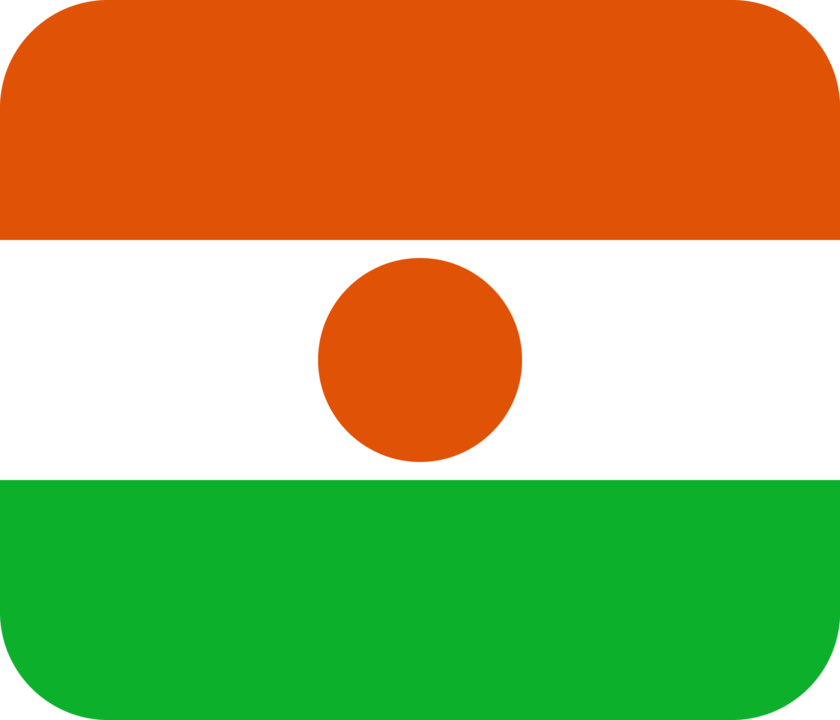Niger flag with rounded corners