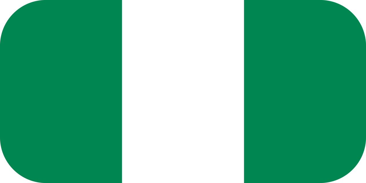 Nigeria flag with rounded corners