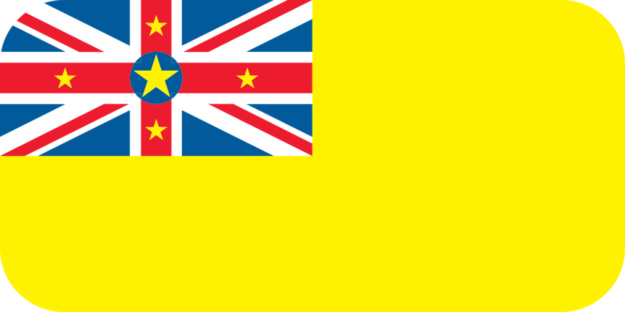 Niue flag with rounded corners