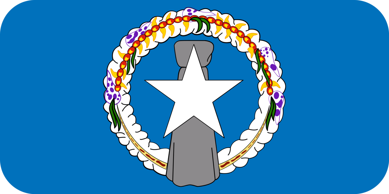 Northern Mariana Islands flag with rounded corners