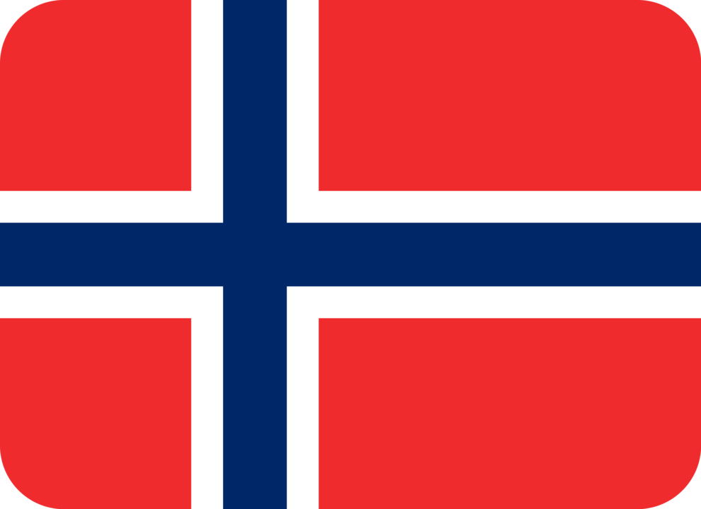 Norway flag with rounded corners