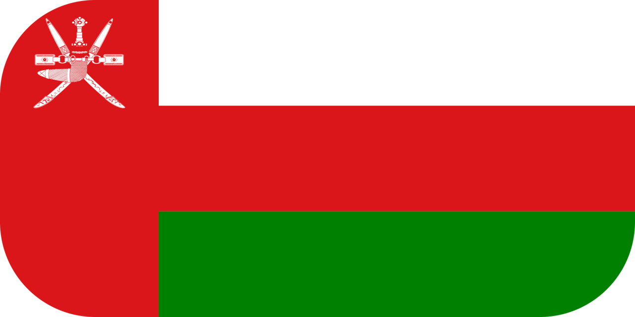 Oman flag with rounded corners