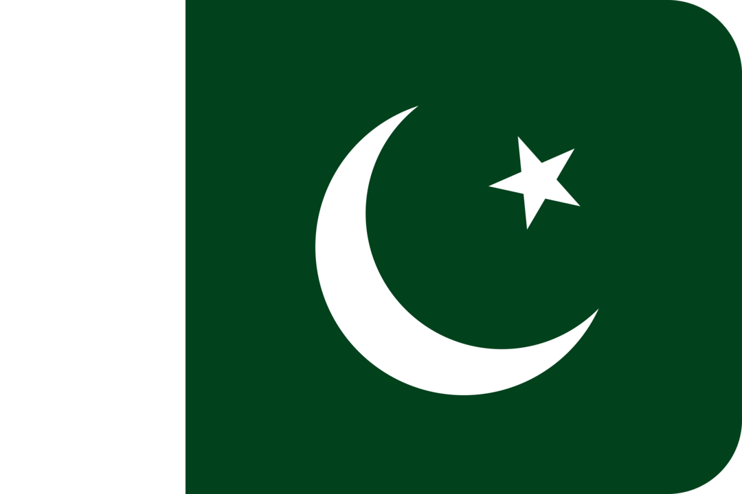 Pakistan flag with rounded corners