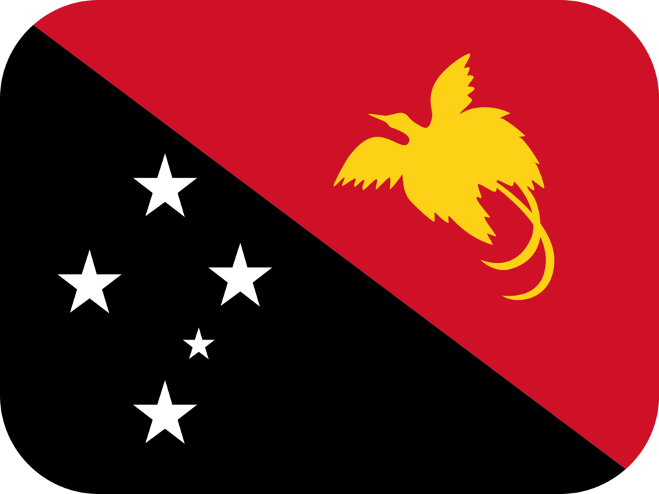 Papua New Guinea flag with rounded corners