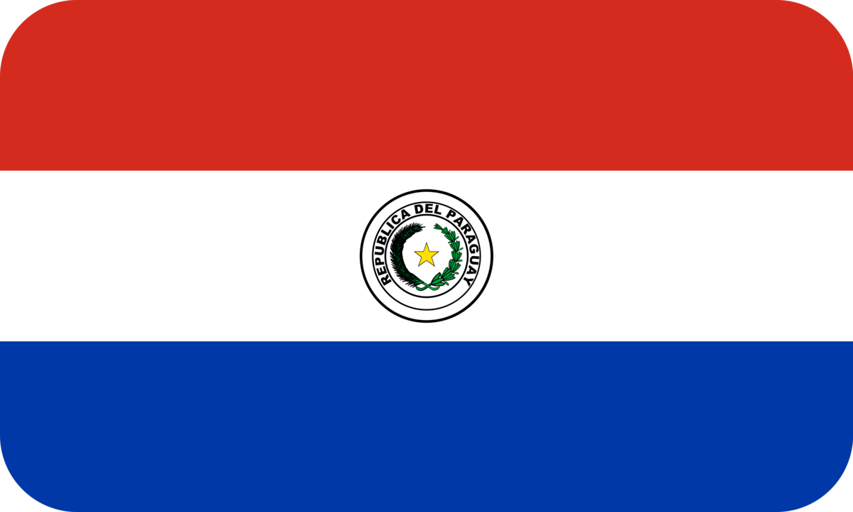 Paraguay flag with rounded corners
