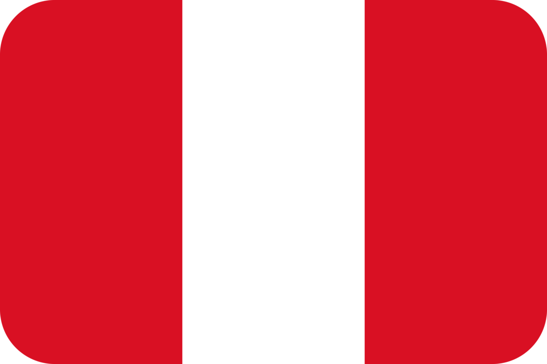 Peru flag with rounded corners