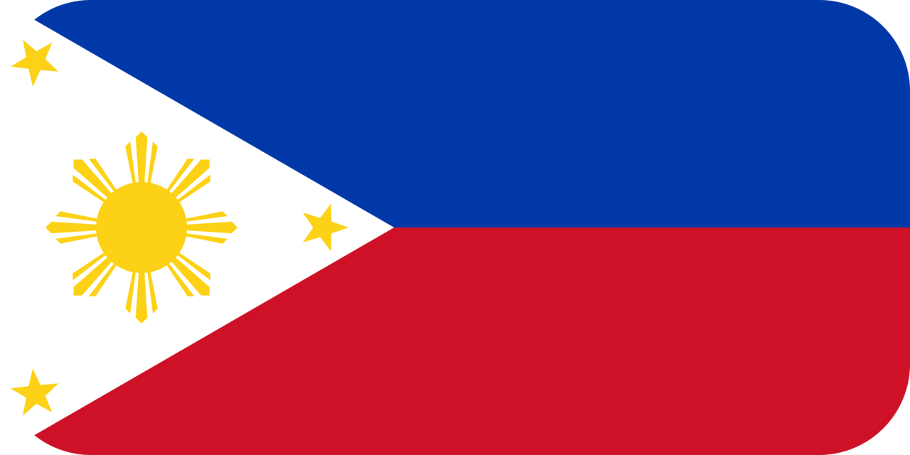 Philippines flag with rounded corners