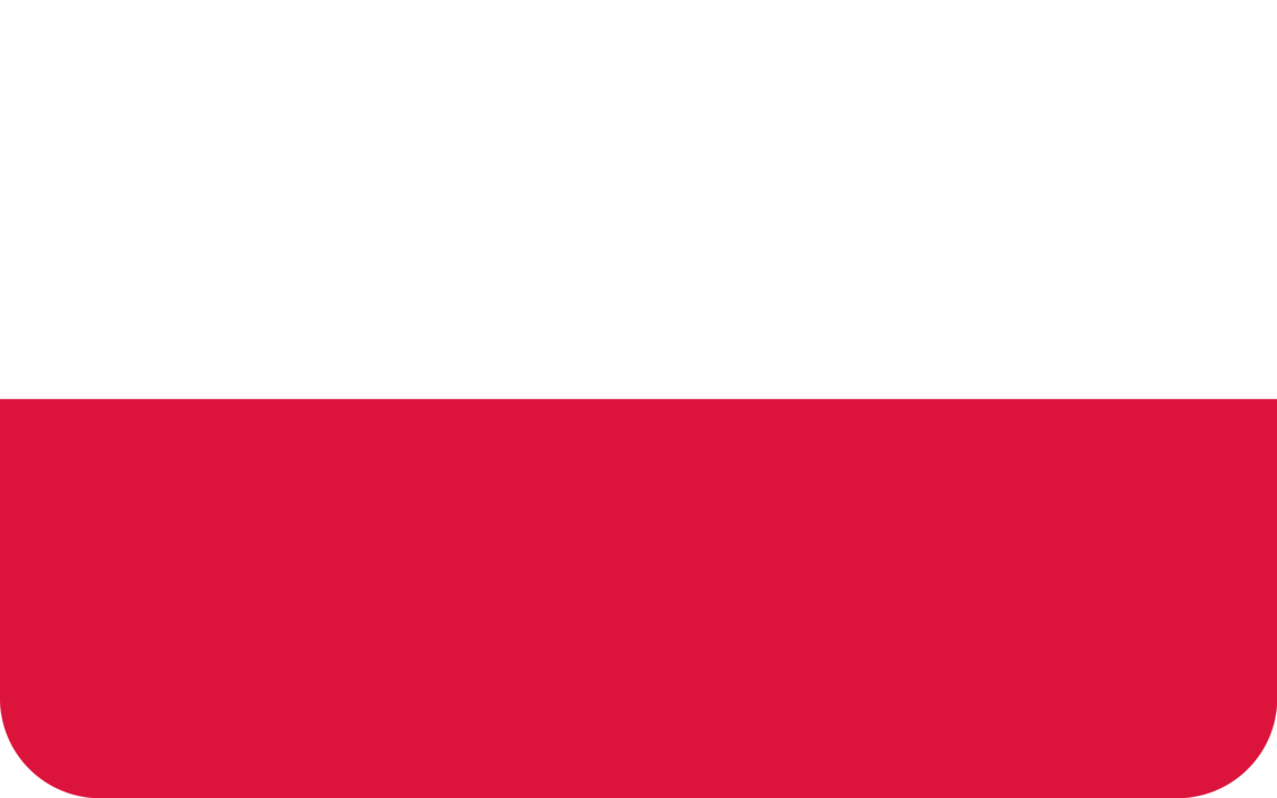 Poland flag with rounded corners