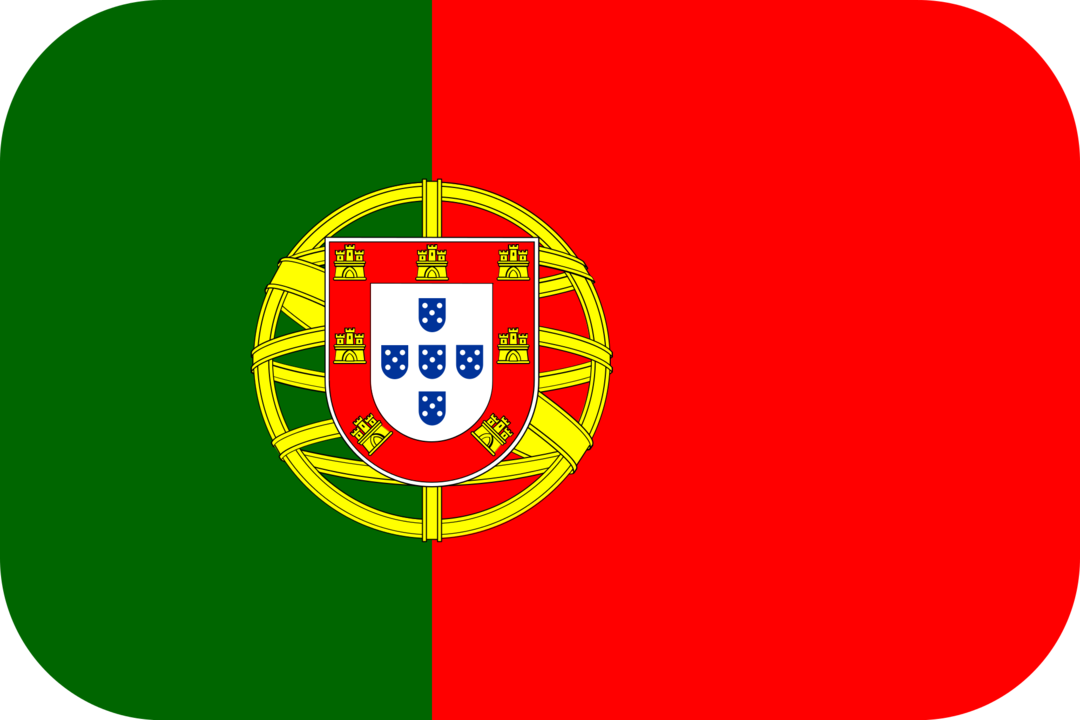 Portugal flag with rounded corners