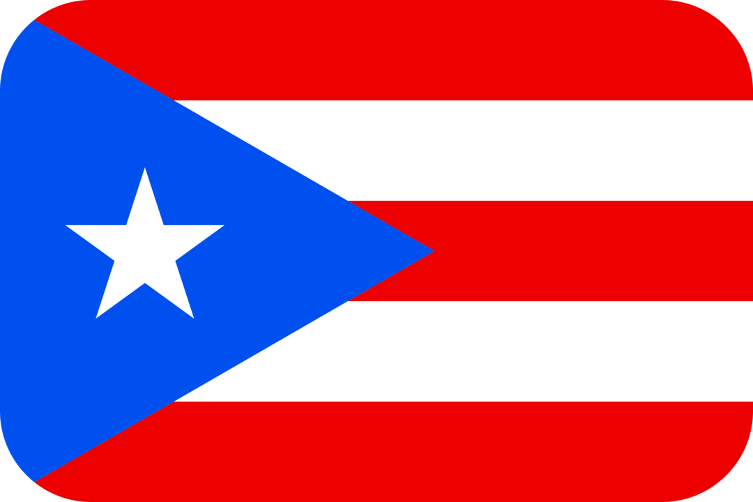 Puerto Rico flag with rounded corners