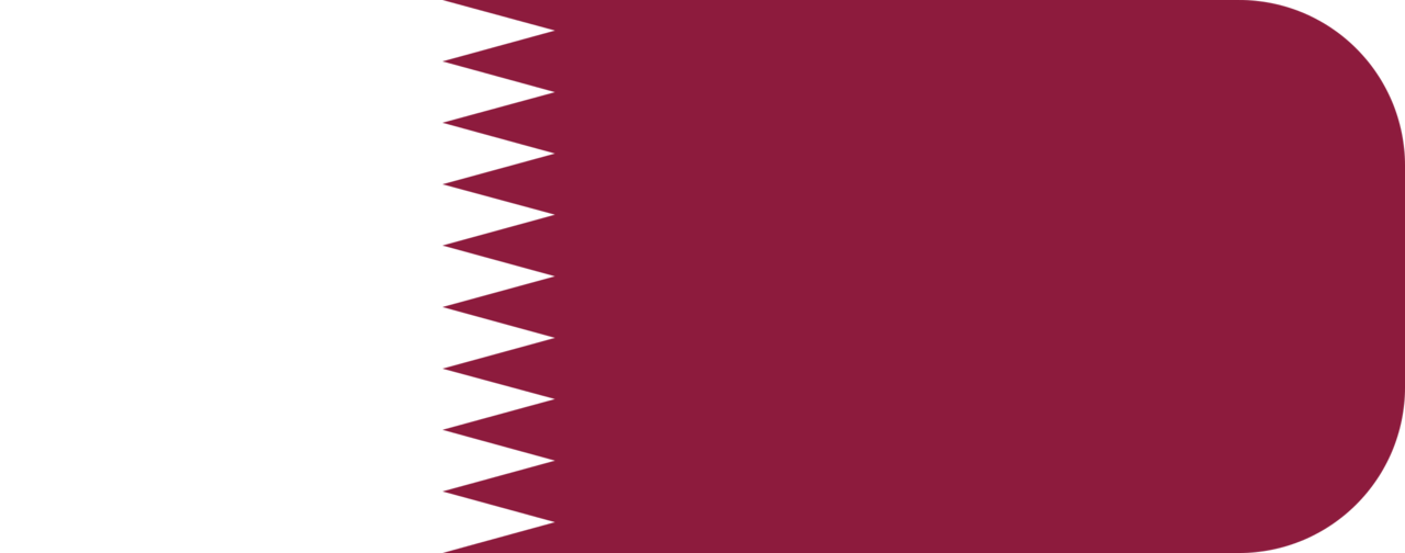 Qatar flag with rounded corners