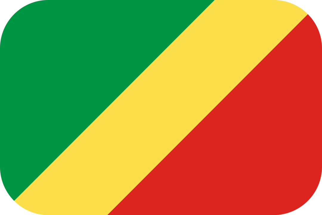 Republic of the Congo flag with rounded corners
