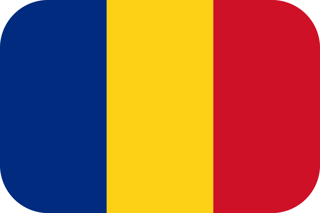 Romania flag with rounded corners