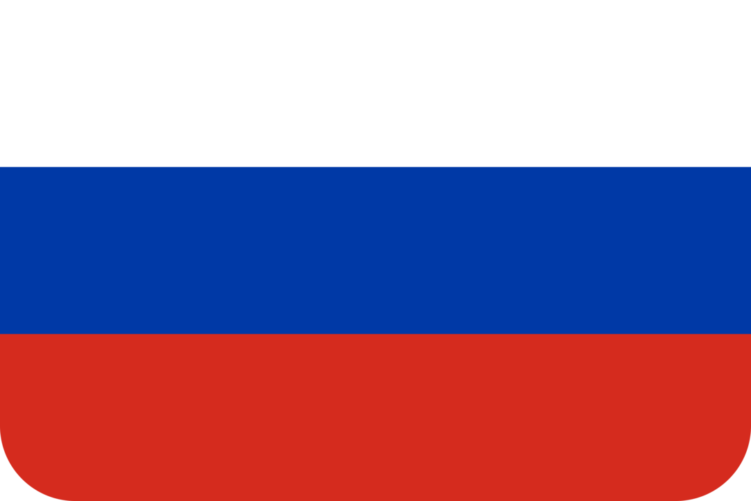Russia flag with rounded corners