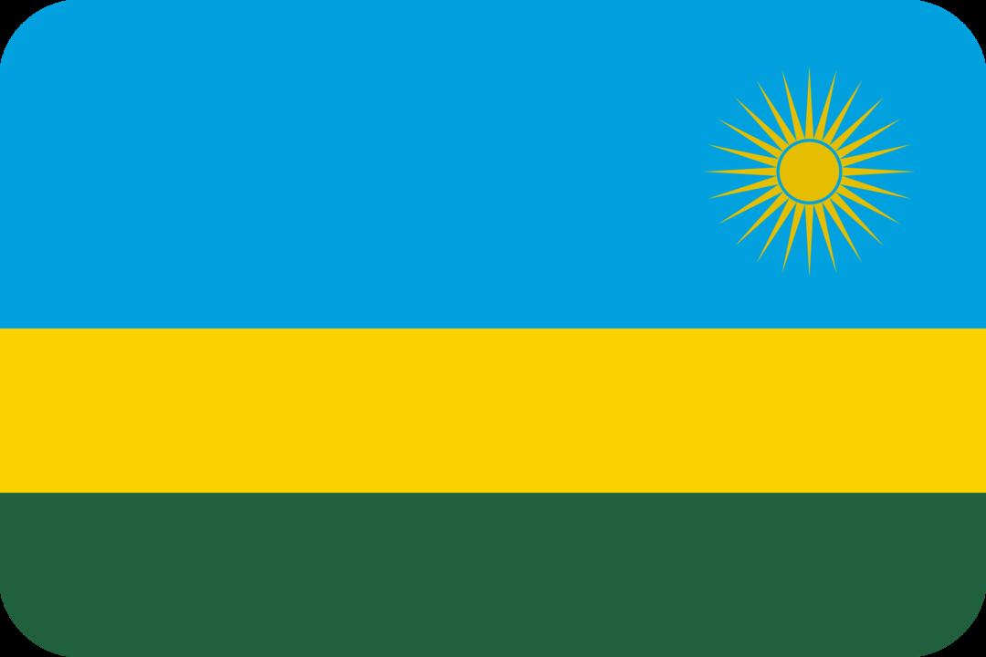 Rwanda flag with rounded corners